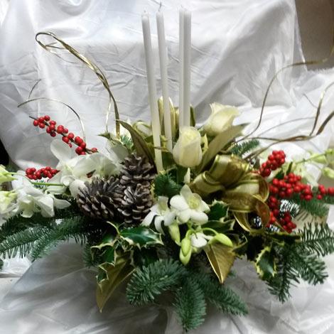Immagini Di Centrotavola Di Natale.Centrotavola Di Natale Con Vaso In Vetro